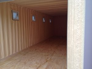 container spray foam insulation