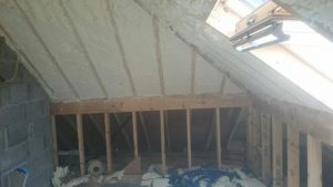 Dormer Spray foam Insulation