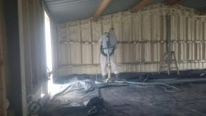 Garage Spray Foam insulation