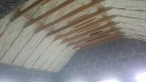 rafters spray foam insulation