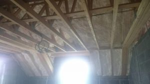 Roof space spray foam insulation