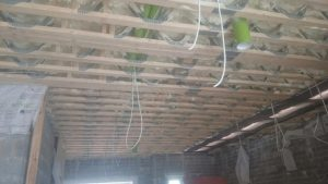Ceiling insulation preperation