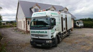 Myfoam insulation truck