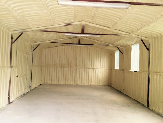 shed spray foam insulation kildare