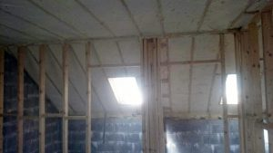 Air tight spray foam insulation