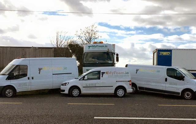 About Us myfoam fleet vans and trucks