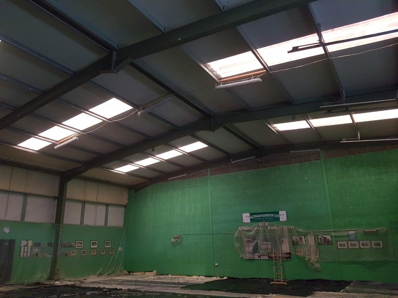 baltinglass badminton court spray foam insulation