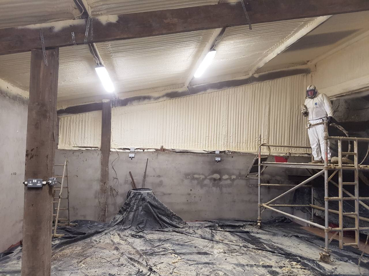 spray foam in farm shed in cavan
